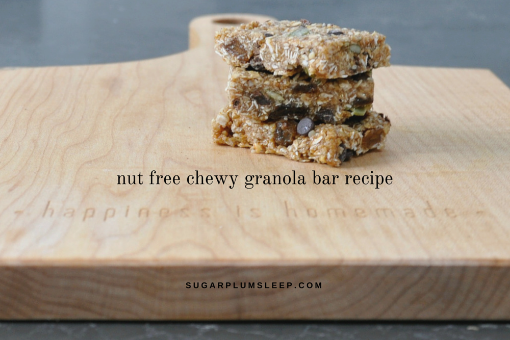 Nut free granola bar recipe
